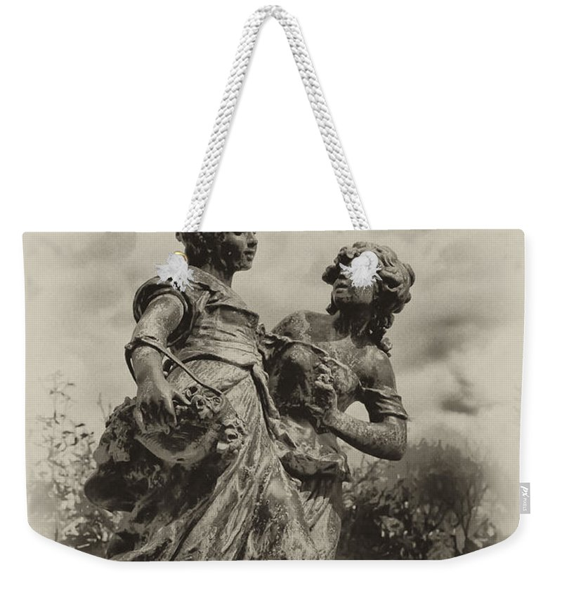 Sisters Weekender Tote Bag featuring the photograph Sisters by Bill Cannon