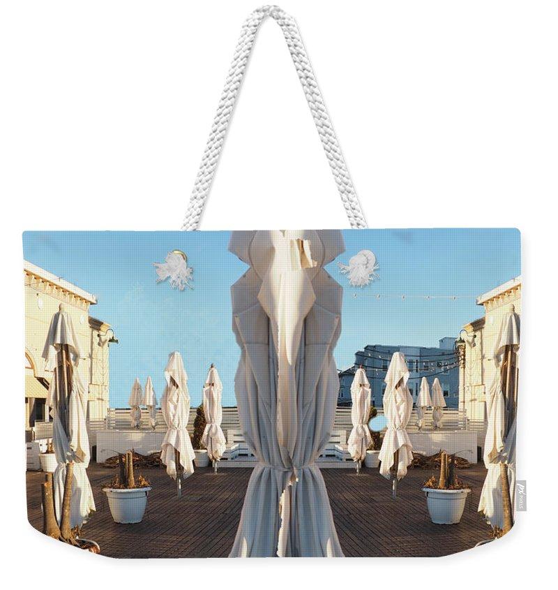 Atlantic City Weekender Tote Bag featuring the digital art Sisters, Let Us Pray by Leon deVose