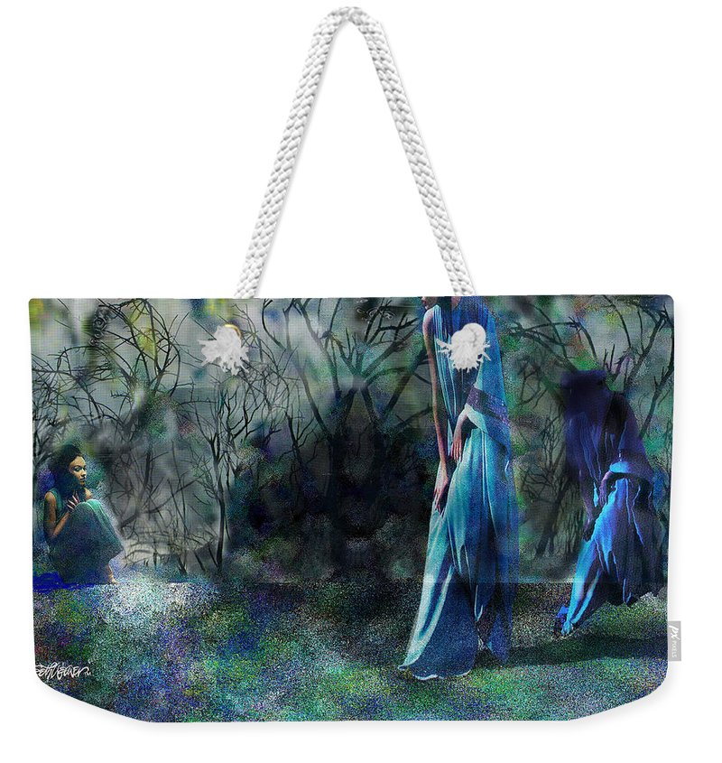 Sisters Of Fate Weekender Tote Bag featuring the photograph Sisters Of Fate by Seth Weaver