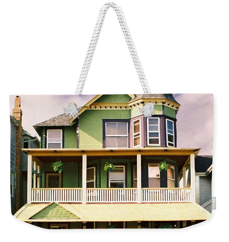 Archtiecture Weekender Tote Bag featuring the photograph Sisters Panel 1 Of Triptych by Steve Karol