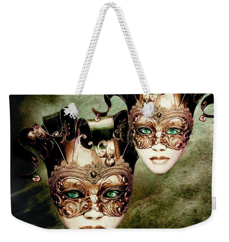 Woman Weekender Tote Bag featuring the digital art Sisters by Jacky Gerritsen