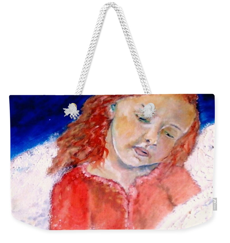Angels Weekender Tote Bag featuring the painting watching the Dreamers by J Bauer