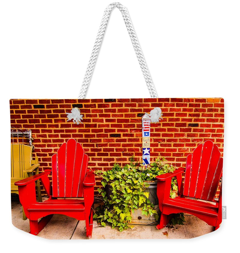 Fine Art Photography Weekender Tote Bag featuring the photograph Sit My Friend by Nicholas Costanzo