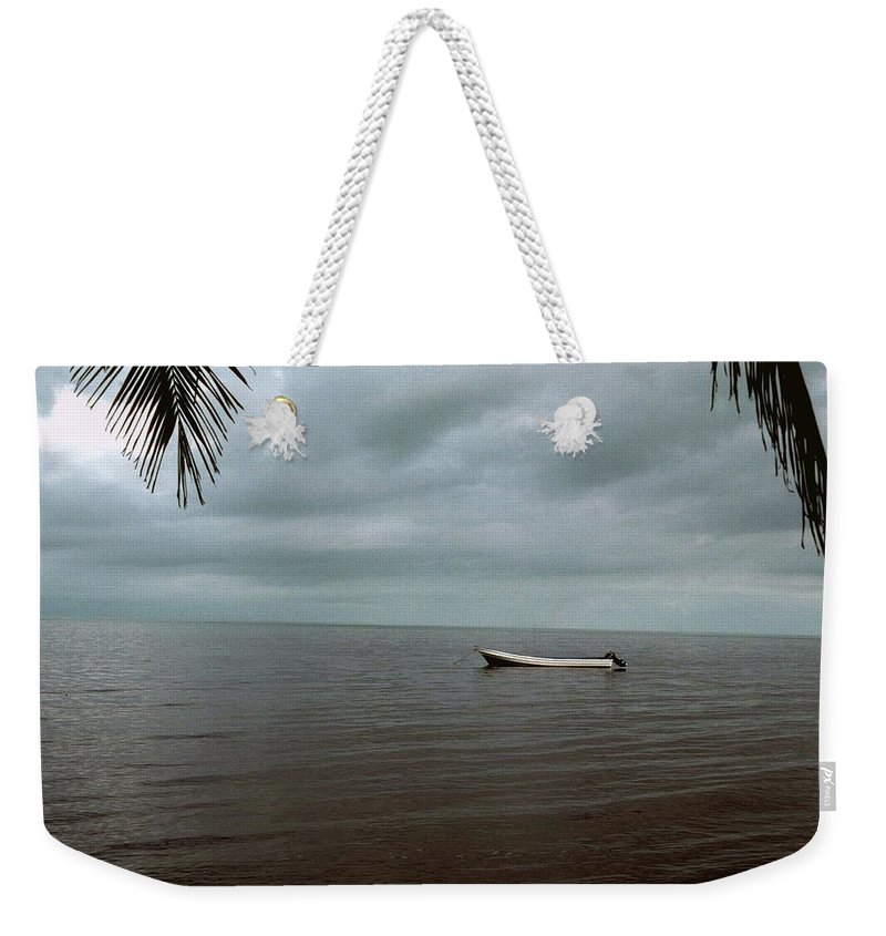 Belize Weekender Tote Bag featuring the photograph Sittin' In The Bay by Gary Wonning