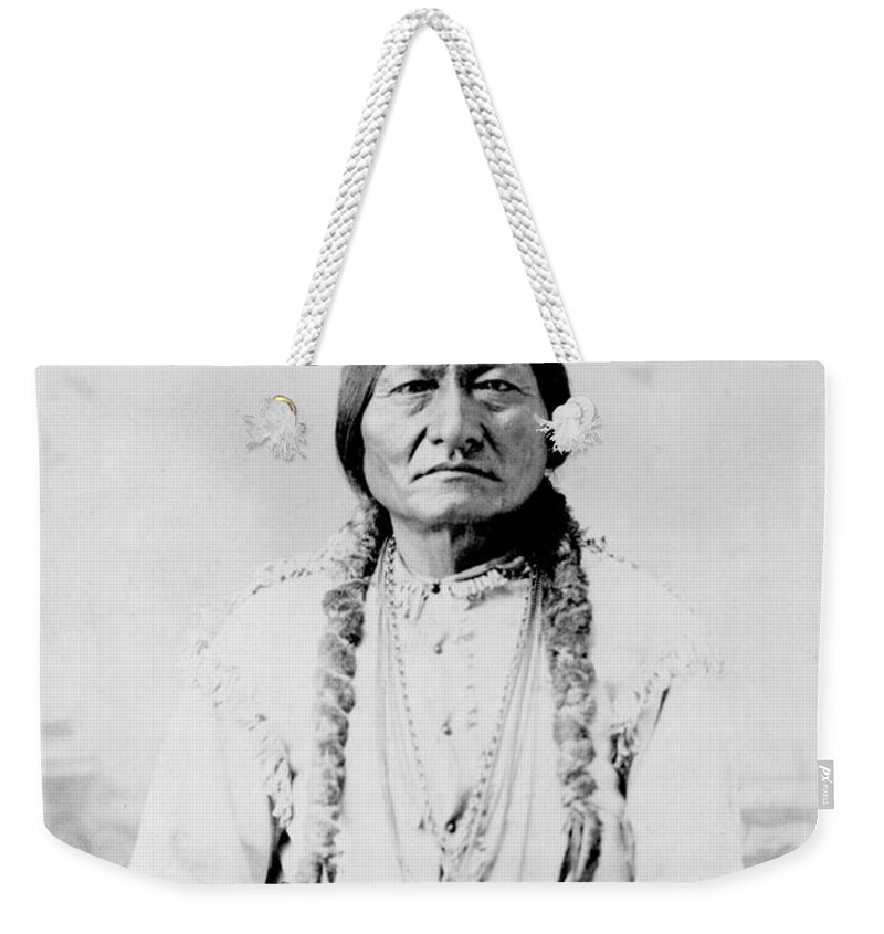 Tribal Chief Weekender Tote Bag featuring the photograph Sitting Bull, A Hunkpapa Lakota Tribal by Stocktrek Images