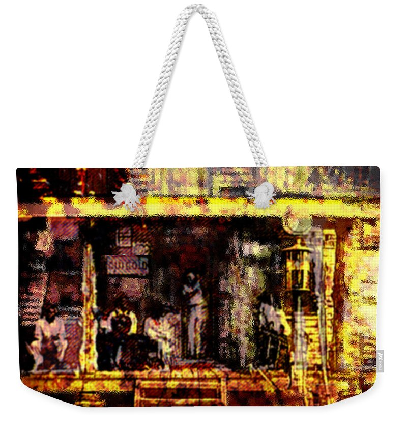 Sitting In The Shade Weekender Tote Bag featuring the digital art Sitting In Shade by Seth Weaver
