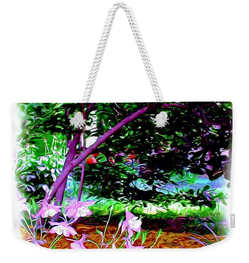 Fine Art Weekender Tote Bag featuring the painting Sitting in the Shade by Patricia Griffin Brett