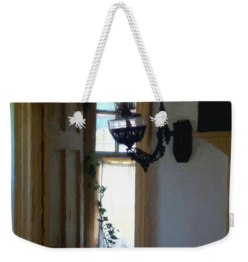 Americana Weekender Tote Bag featuring the painting Sitting Room Doorway by RC deWinter