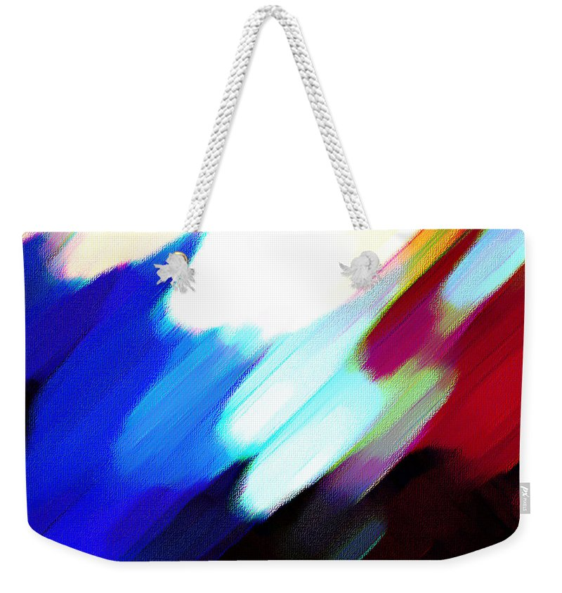 Digital Abstract Weekender Tote Bag featuring the painting Sivilia 12 Abstract by Donna Corless