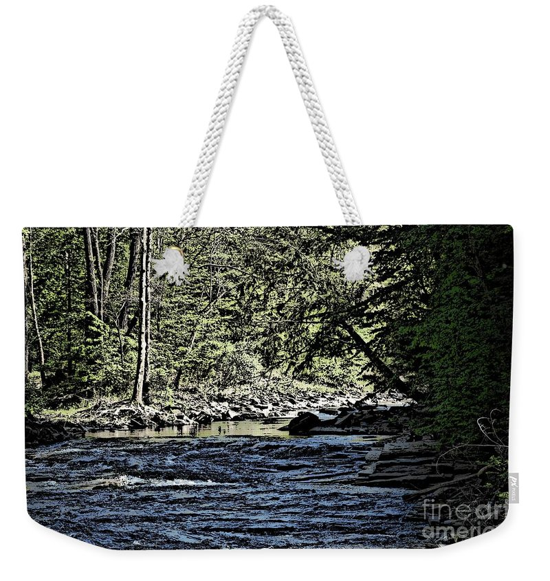Landscape Weekender Tote Bag featuring the photograph Six Mile Creek Ithaca Ny by David Lane