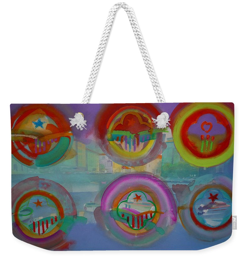 Landscape Weekender Tote Bag featuring the painting Six Visions Of Heaven by Charles Stuart