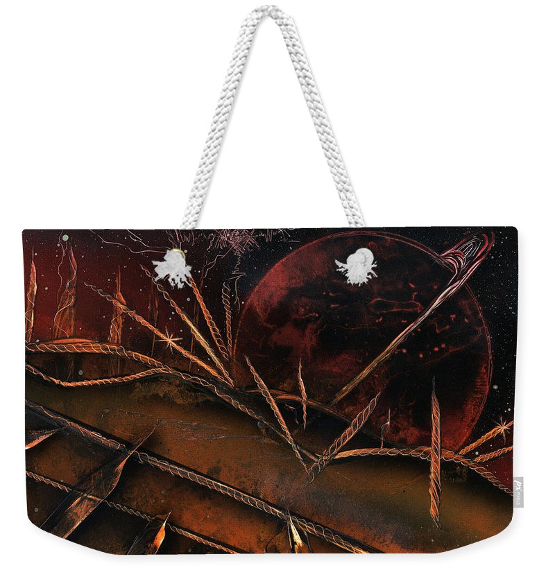 Candles Weekender Tote Bag featuring the painting Sixteen Candles by Jason Girard