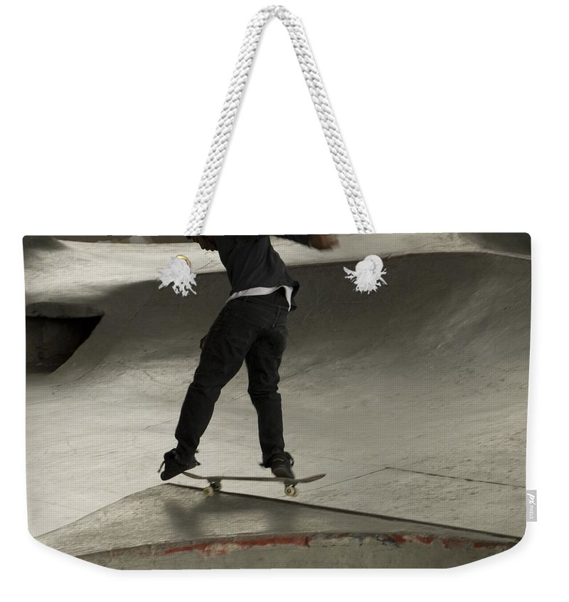 Skating Weekender Tote Bag featuring the photograph Skate 2 by Sara Stevenson