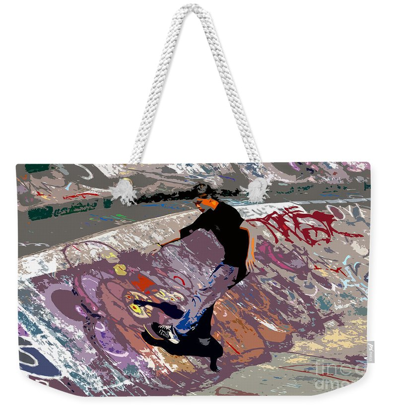 Skate Park Weekender Tote Bag featuring the photograph Skate Park by David Lee Thompson