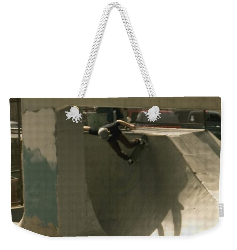 Skate Weekender Tote Bag featuring the photograph Skate by Sara Stevenson