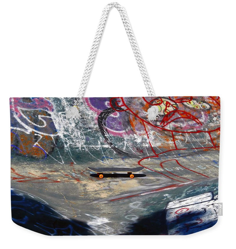 Skateboard Weekender Tote Bag featuring the photograph Skateboard by David Lee Thompson