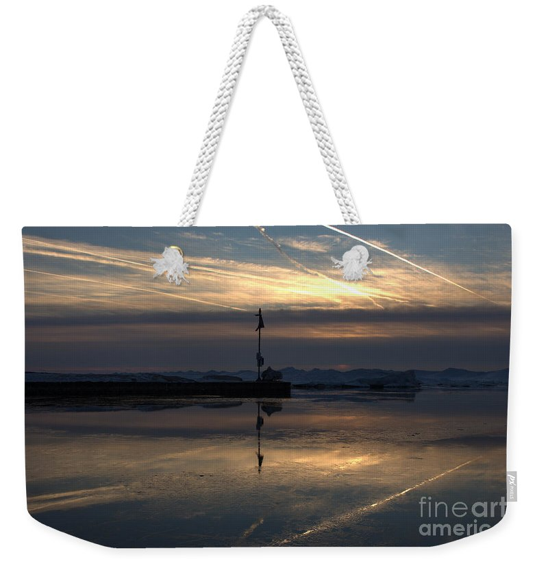 Grand Bend Weekender Tote Bag featuring the photograph Skating On The Sky 4 by John Scatcherd