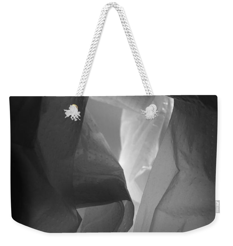 Crumpled Weekender Tote Bag featuring the photograph Skc 0161 The Crumpled Pattern by Sunil Kapadia