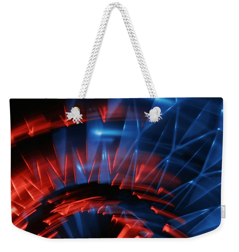 Abstract Weekender Tote Bag featuring the photograph Skc 0271 Color Abstract by Sunil Kapadia