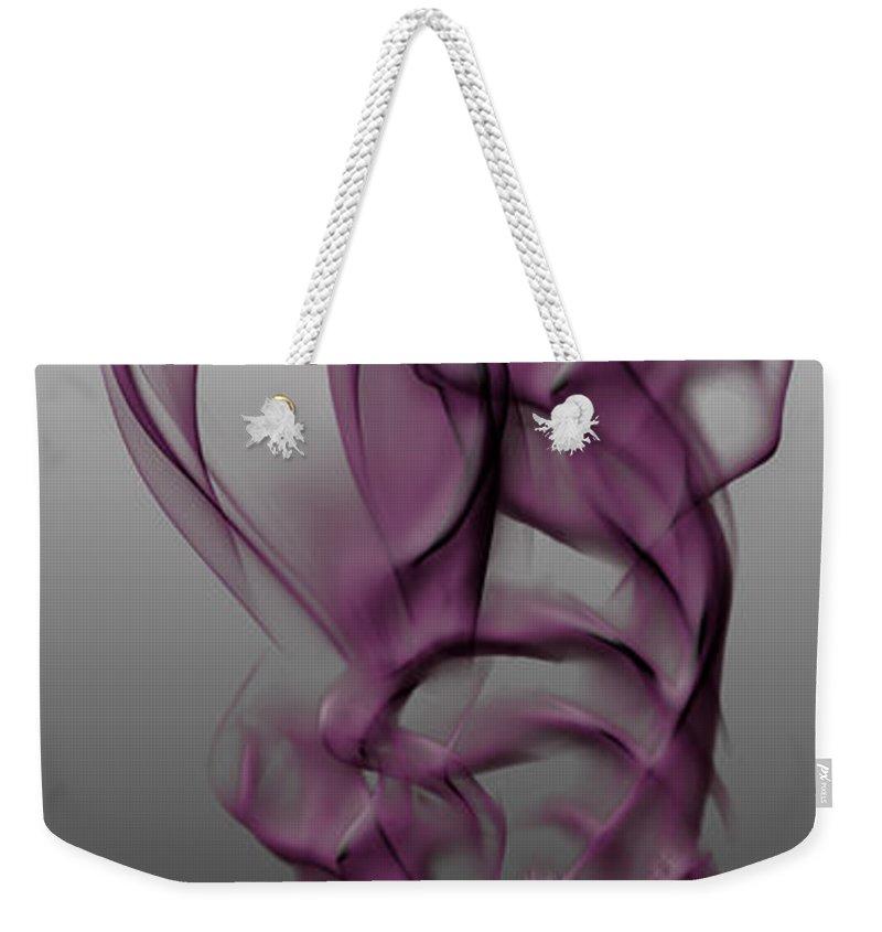Clay Weekender Tote Bag featuring the digital art Skeletal Flow by Clayton Bruster