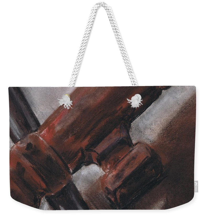 Skeleton Weekender Tote Bag featuring the drawing Skeleton Keys No. 2 by Kristine Kainer