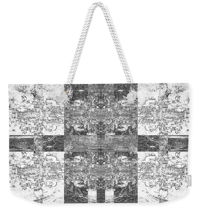 Black And White Weekender Tote Bag featuring the digital art Skentch by Revantide Afterburner