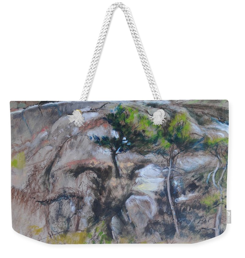 Weekender Tote Bag featuring the painting Sketch For Ogwen Painting 2 by Harry Robertson