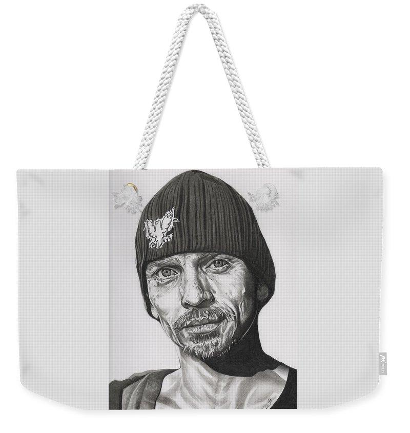 Breaking Bad Weekender Tote Bag featuring the drawing Skinny Pete Breaking Bad by Fred Larucci