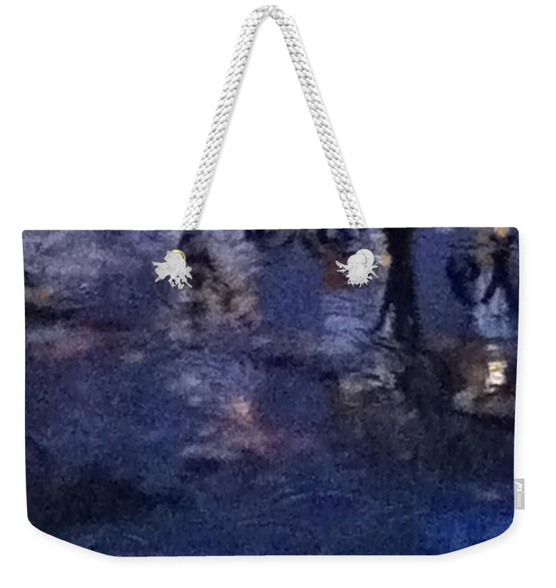 Pond Weekender Tote Bag featuring the photograph Skirting Cold Water by Ken Lerner