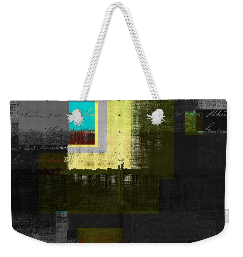 Abstract Weekender Tote Bag featuring the digital art Skouarios 04attx - J0234143191yg by Variance Collections