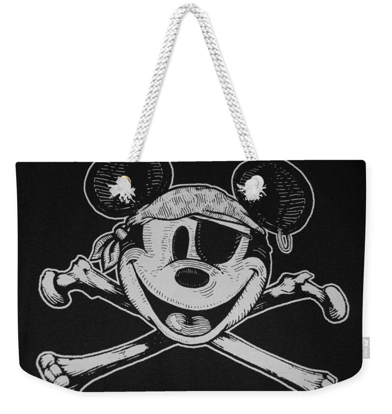Walt Disney World Weekender Tote Bag featuring the photograph Skull And Bones Mickey by Rob Hans