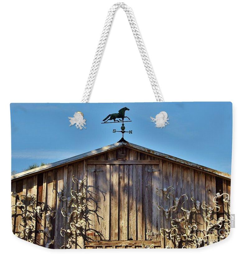 Barn Weekender Tote Bag featuring the photograph Skull Barn by Lisa Renee Ludlum