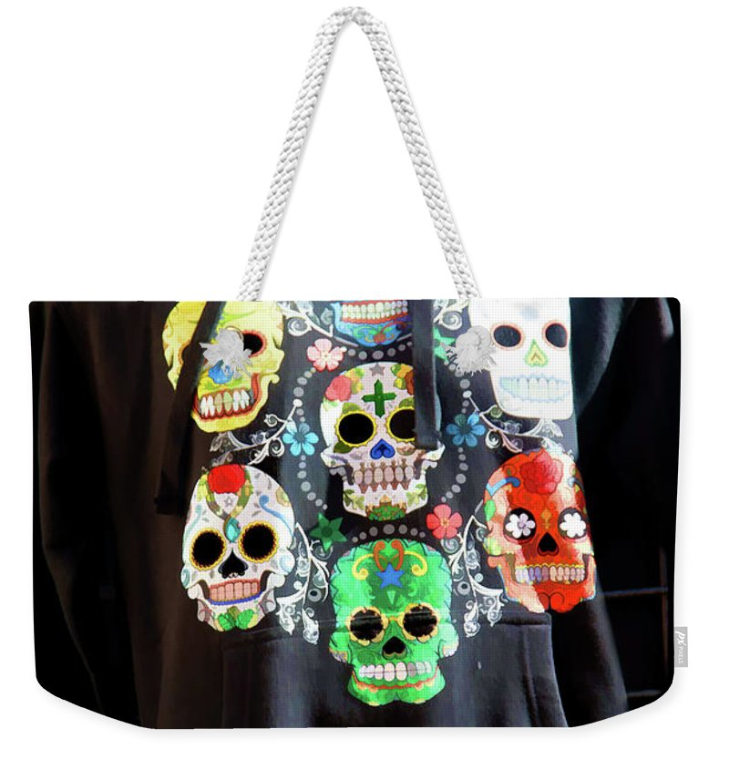 Dia De Los Muertos Weekender Tote Bag featuring the photograph Skull T Shirts Day Of The Dead by Chuck Kuhn