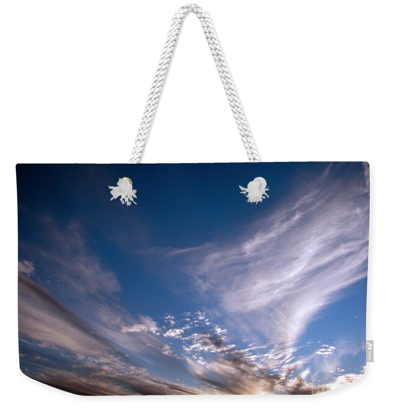 Skies Weekender Tote Bag featuring the photograph Sky by Amanda Barcon