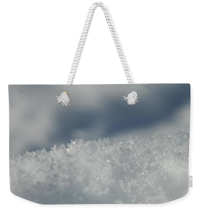 Ice Weekender Tote Bag featuring the photograph Sky And Ice by Donna Blackhall