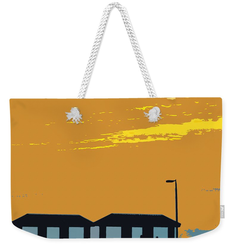 Fishing Pier Weekender Tote Bag featuring the painting Sky And Pier by David Lee Thompson