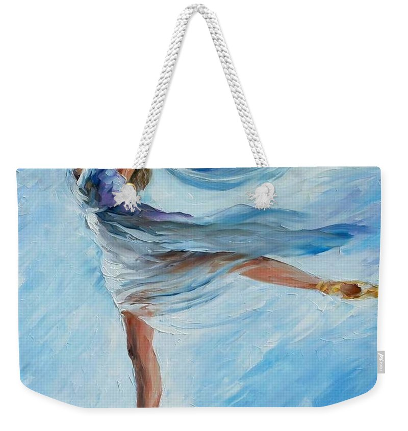 Ballet Weekender Tote Bag featuring the painting Sky Dance by Leonid Afremov