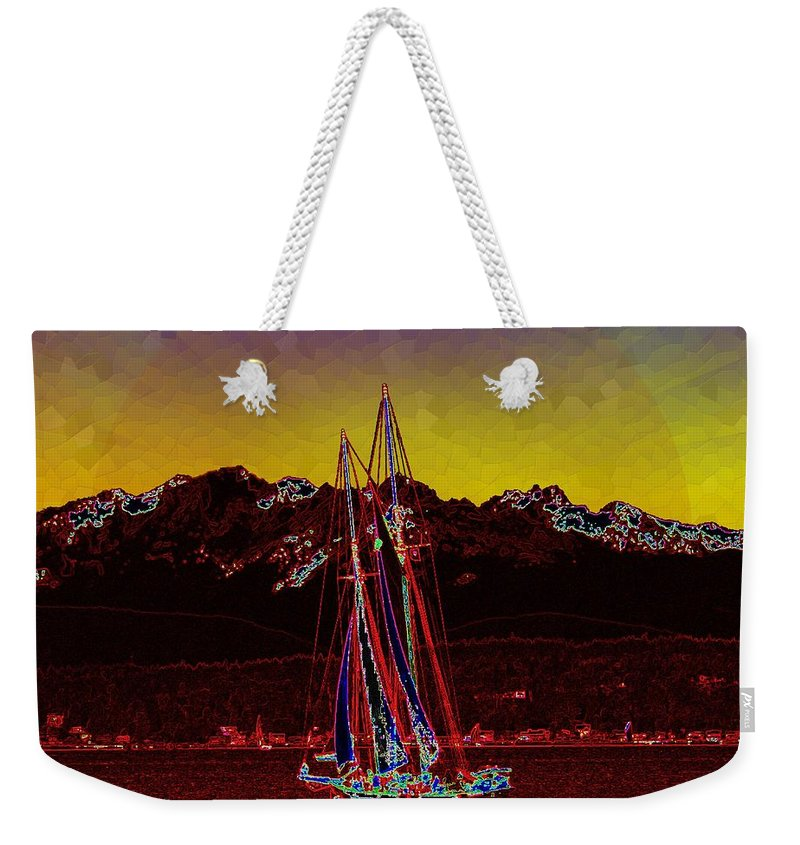 Sail Weekender Tote Bag featuring the digital art Sky Diamonds by Tim Allen