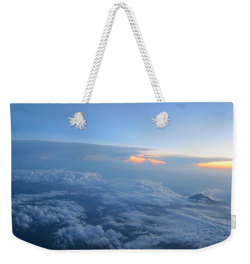 Mountains Weekender Tote Bag featuring the photograph Sky High Mountain by Dan Ya