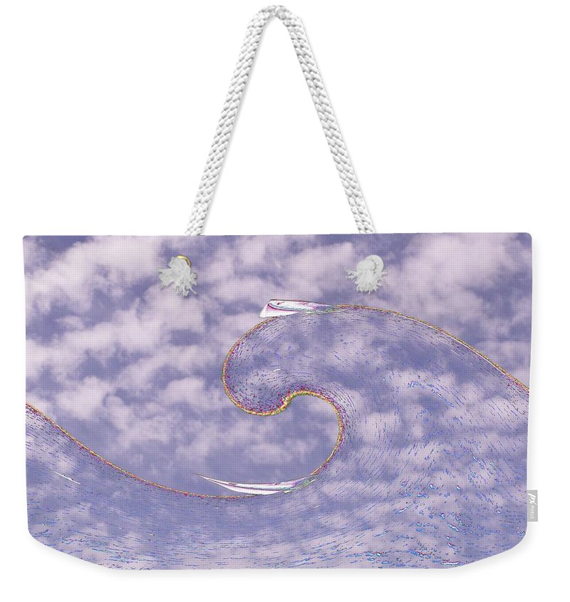 Sail Weekender Tote Bag featuring the photograph Sky High Sail Surfin by Tim Allen