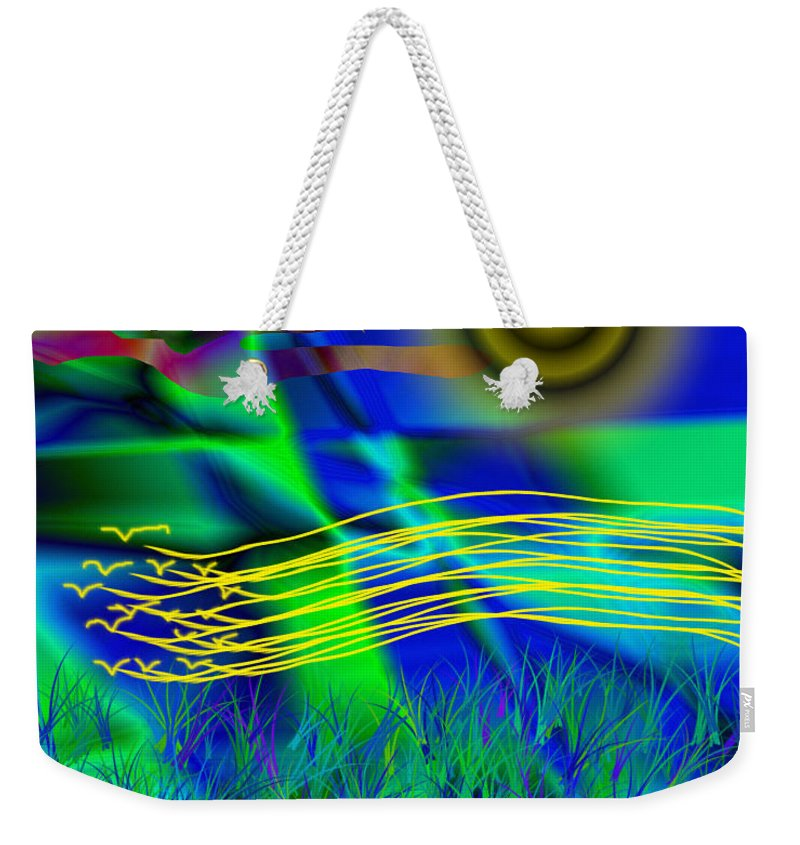 Digital Weekender Tote Bag featuring the painting Sky Of Mind by Victor Vosen