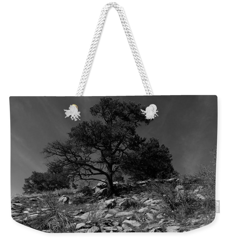 Black And White Photography Weekender Tote Bag featuring the photograph Sky Streaks by Kirk Griffith