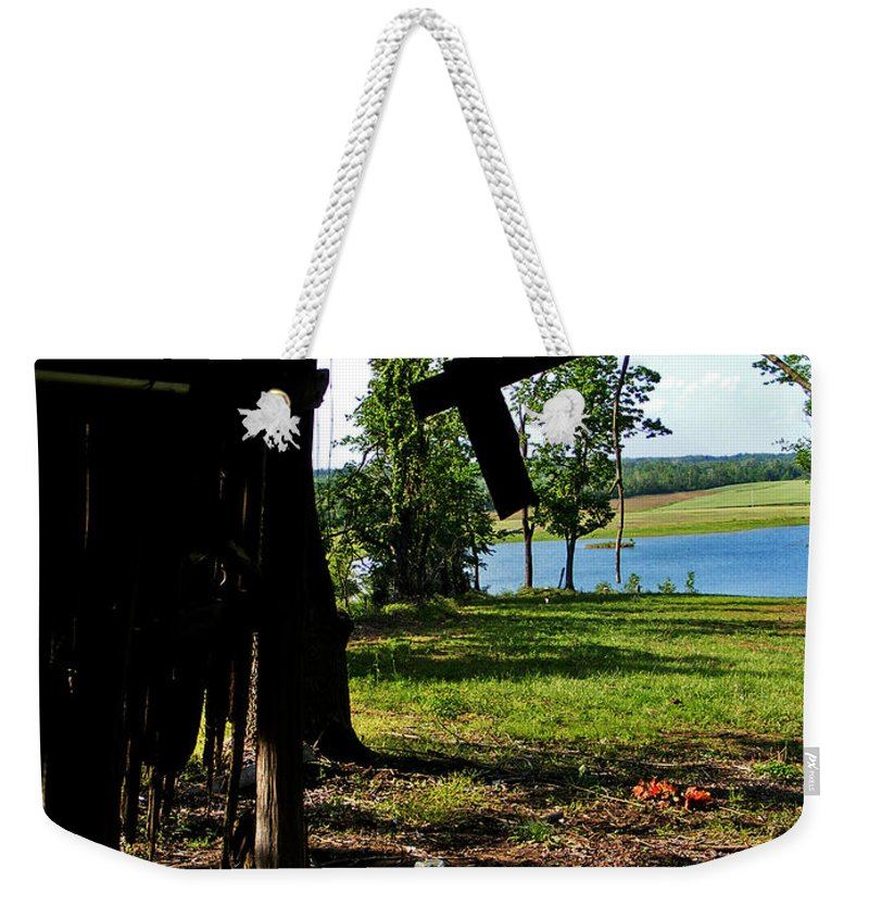 Landscape Weekender Tote Bag featuring the photograph Skylights by Rachel Christine Nowicki