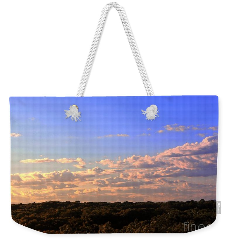 Sky Weekender Tote Bag featuring the photograph Skyline by Marc Love