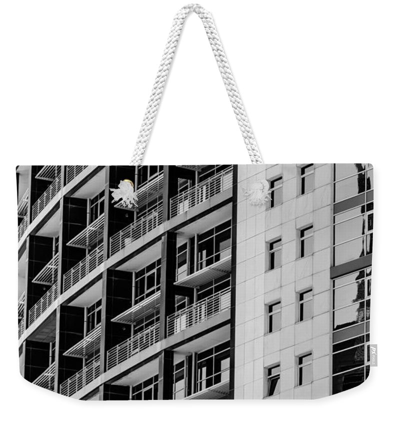 Skyscraper Weekender Tote Bag featuring the photograph Skyscraper Detail by Marco Oliveira