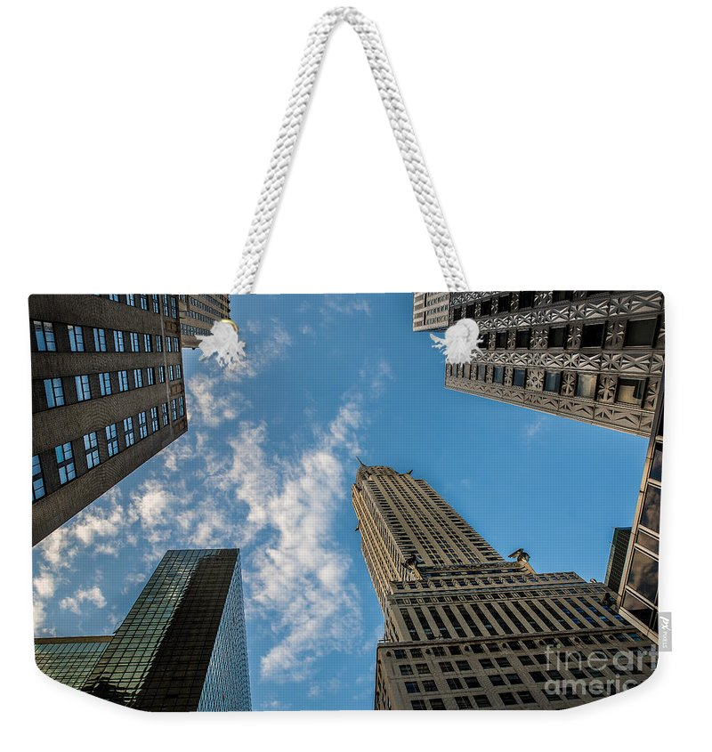 Flatiron Building Weekender Tote Bag featuring the photograph Skytops Manhattan by Alissa Beth Photography