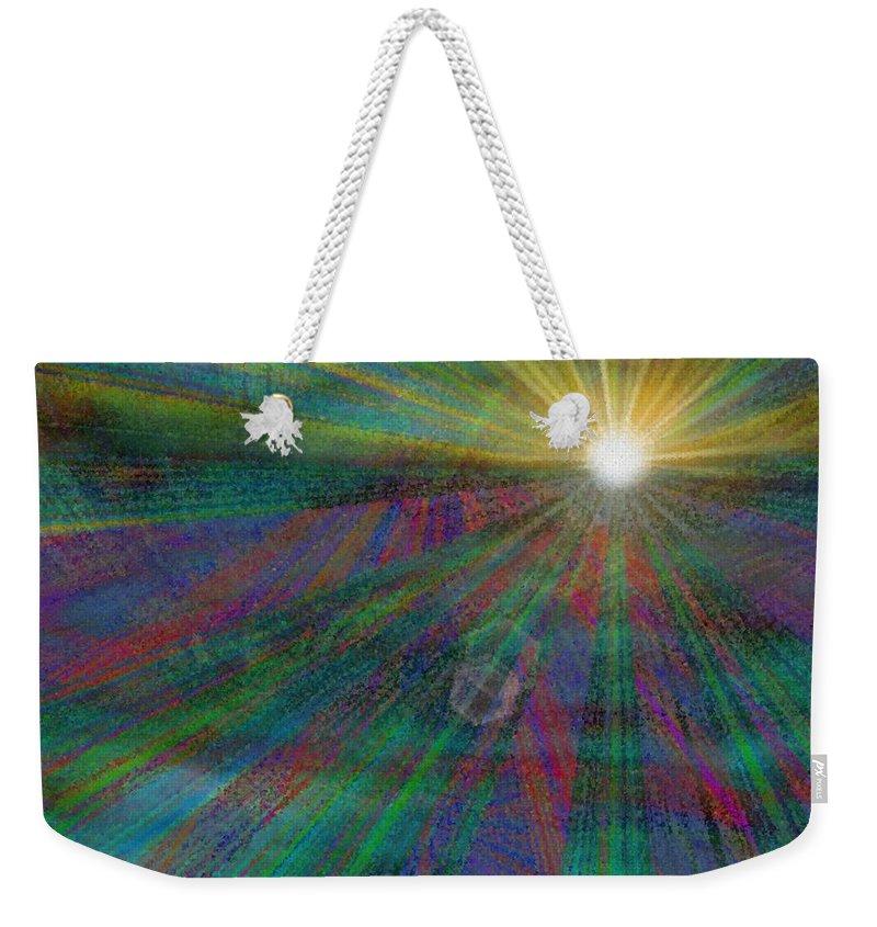 Abstract Weekender Tote Bag featuring the digital art Skyward 2 by Tim Allen