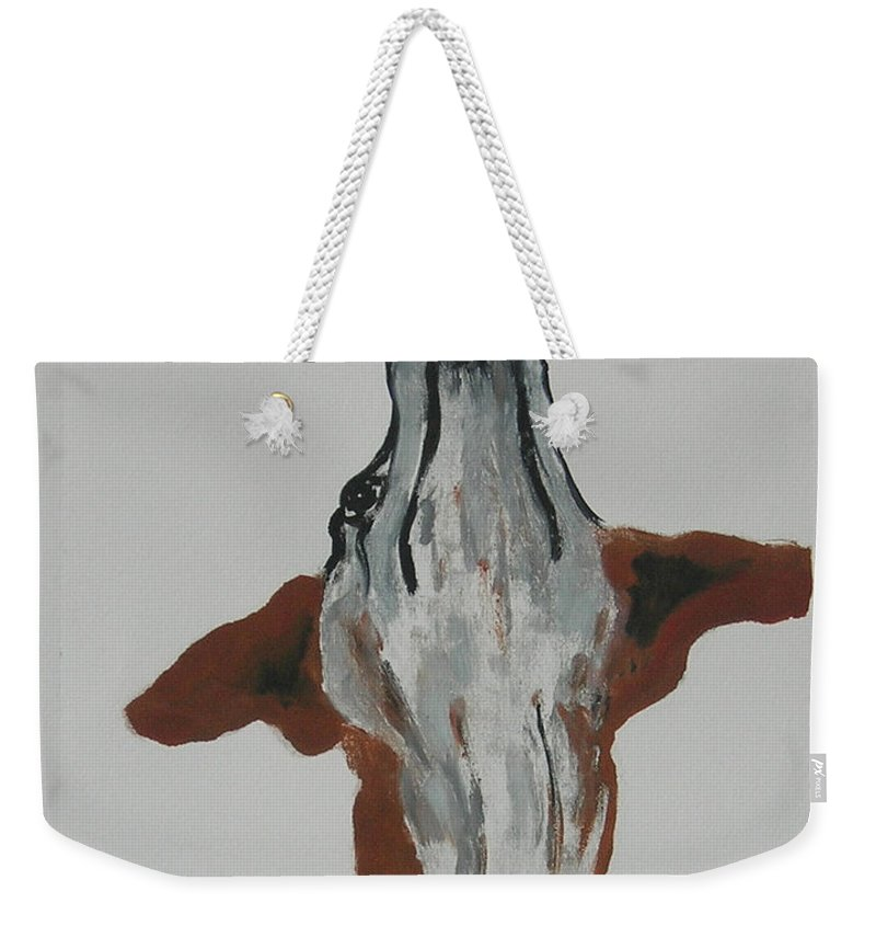 Whippet Weekender Tote Bag featuring the mixed media Skyward Bound by Cori Solomon