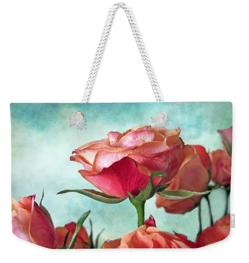 Flower Weekender Tote Bag featuring the photograph Skyward by Jessica Jenney