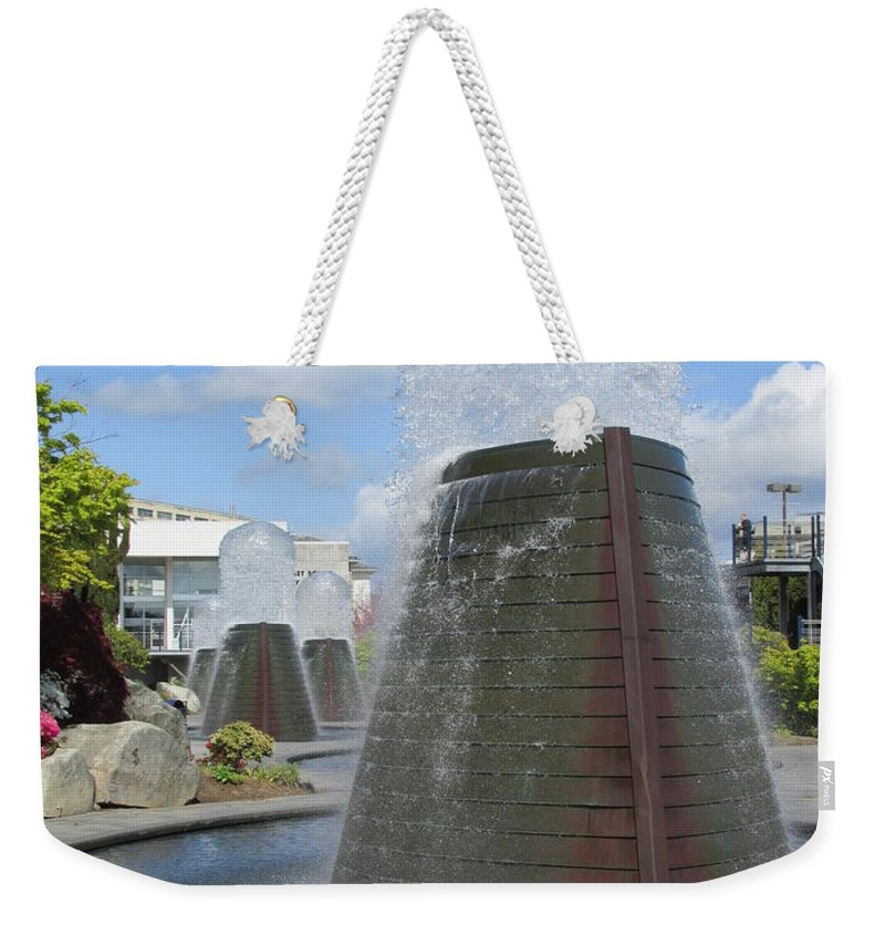 Washington State Weekender Tote Bag featuring the photograph Skyward Water by Benjamin Hanna